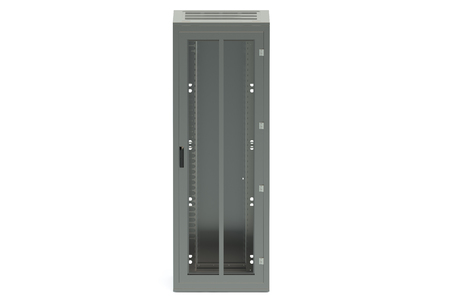 cabinet: Server rack isolated on white background