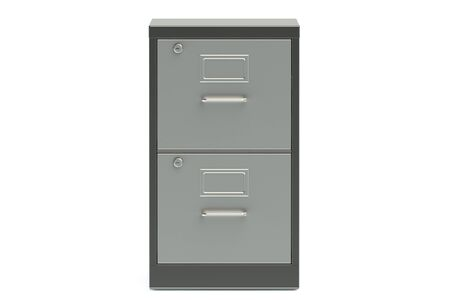 filing: filing cabinet isolated on white background