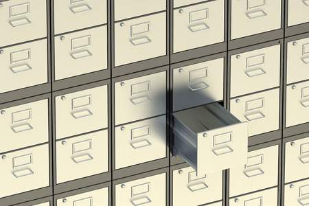 filing: filing cabinet, archive room