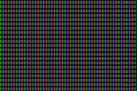 by the lcd screen: LCD screen pixels triads closeup on black background