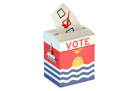 votes: Kiribati election ballot box for collecting votes