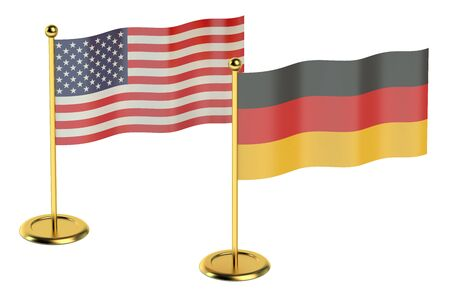 industrialized country: meeting Germany with EU concept isolated on white background
