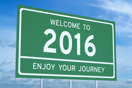 event: welcome to 2016 concept Stock Photo