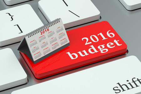 budget: budget 2016 concept  on the keyboard Stock Photo