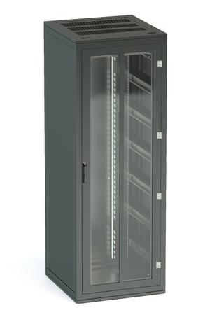 rack: Server rack isolated on white background
