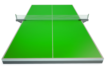 table tennis: Table tennis isolated on white background