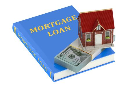 mortgage: Mortgage Loan  concept isolated on white background Stock Photo