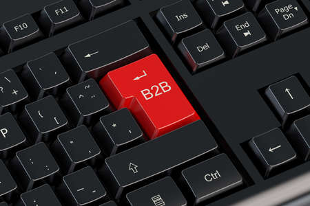 b2b: B2B concept on the computer keyboard Stock Photo