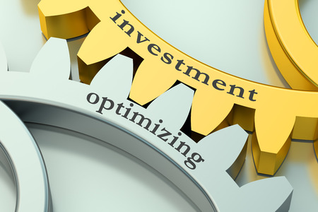 optimizing: investment and optimizing concept on the gearwheels