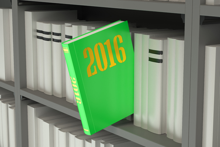 books new books: 2016 New Year concept Stock Photo