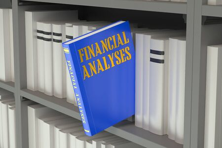 analyses: Financial Analyses concept on the bookshelf