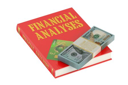 analyses: Financial Analyses concept on the book