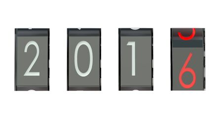 new year counter: New Year counter isolated on white background