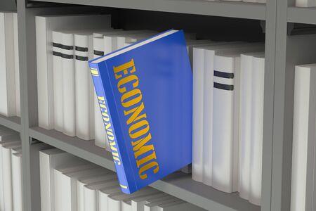 economic: Economic concept on the bookshelf