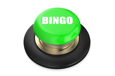 push button: Bingo push button  isolated on white background