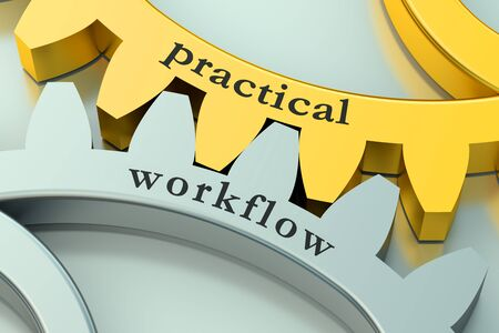 practical: practical workflow concept on the gearwheels