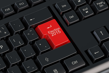 balloting: Election 2015 concept on the keyboard