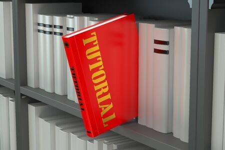 handbook: Tutorial concept on the bookshelf