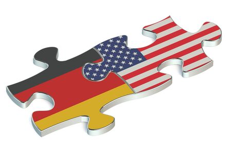 the us: USA and Germany puzzles from flags