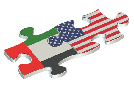 uae: USA and UAE puzzles from flags
