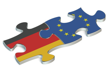 european union: Germany and European Union puzzles from flags