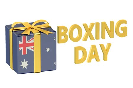 boxing day: boxing day concept with flag Australia Stock Photo