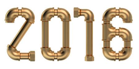 ca�er�as: 2016 concepto con las tuber�as de fontaner�a