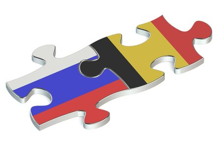 federation: Belgium and Russian Federation puzzles from flags
