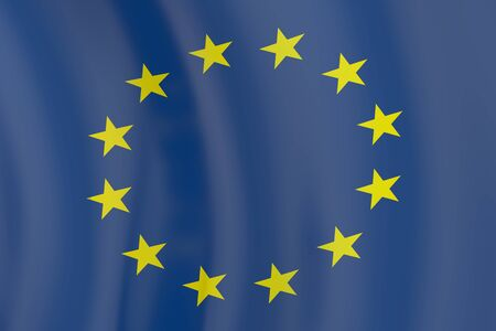 european community: European Union flag in the wind Stock Photo