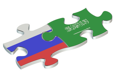 russian federation: Saudi Arabia and Russian Federation puzzles from flags