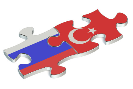 russian federation: Turkey and Russian Federation puzzles from flags