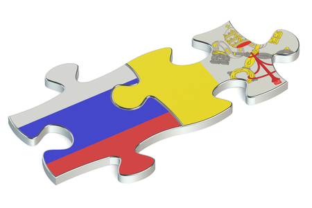 russian federation: Vatican and Russian Federation puzzles from flags