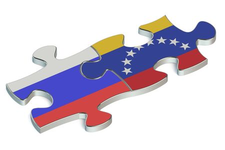 russian federation: Venezuela and Russian Federation puzzles from flags