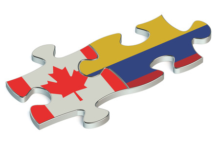 bandera de colombia: Colombia y Canadá rompecabezas de banderas