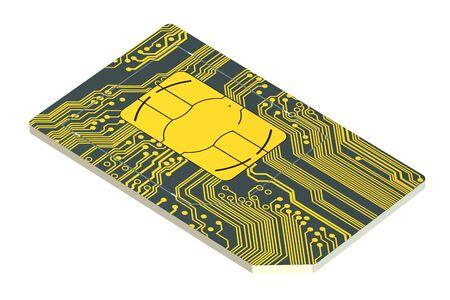 roaming: SIM card isolated on white background Stock Photo