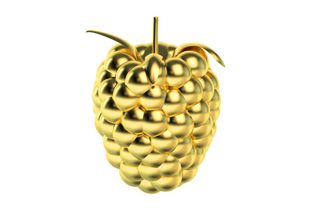 achievement concept: Golden Raspberry isolated on white background Stock Photo
