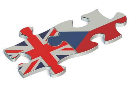 the czech republic: Czech Republic and United Kingdom puzzles from flags
