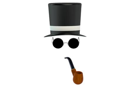 eyewear: invisible man isolated on white background