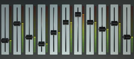 mixing board: music mixer Stock Photo