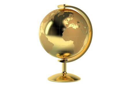 golden globe: golden globe isolated on white background Stock Photo
