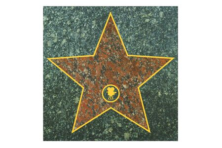 granite floor: star walk of fame