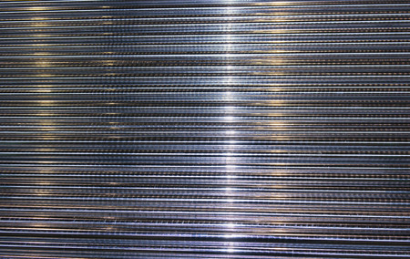 round rods: steel round bars or rods close up