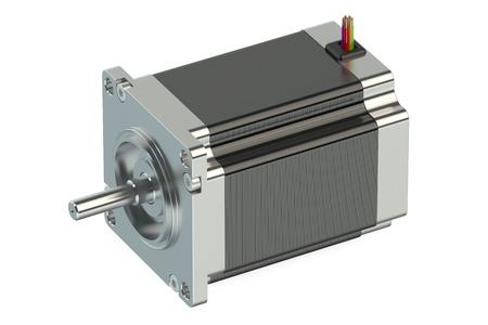 stepper: Stepper motor isolated on white background
