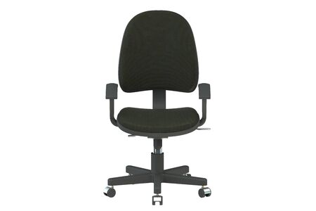 wheel chair: Desk chair isolated on white background