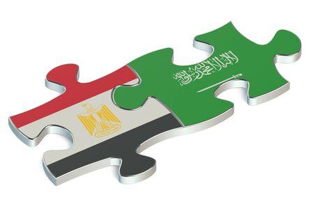 saudi arabia: Saudi Arabia and Egypt puzzles from flags