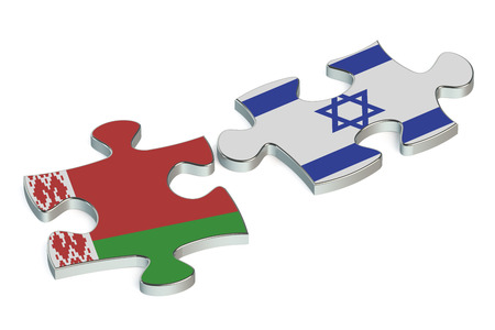international crisis: Belarus and Israel conflict concept