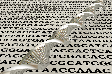 bioengineering: dna structure, abstract background
