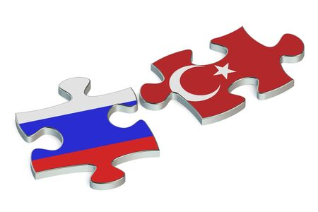 international crisis: Russia and Turkey conflict  concept Stock Photo