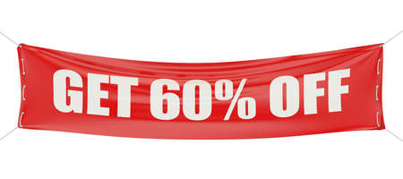60: 60 %, sale and discount concept isolated on white background