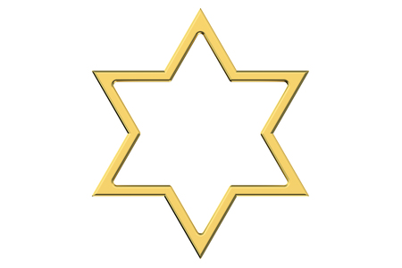 israelite: Star of David isolated on white background